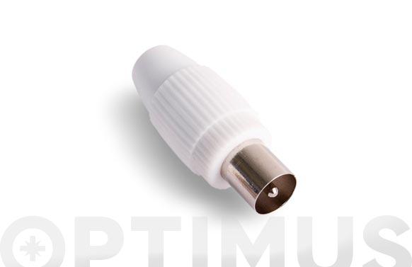 Conector recto macho blanco mp-611e/m9.5