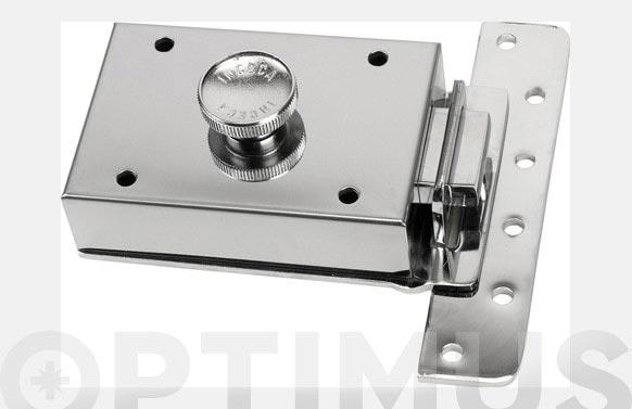 Cerradura sobreponer contrapalanca llave sola 303/60 cromo
