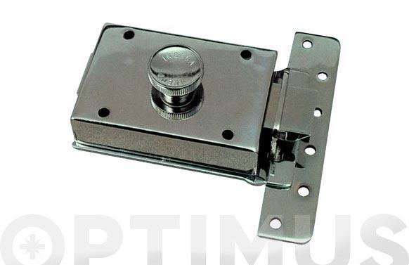 Cerradura sobreponer contrapalanca golpe y llave 304/60 izquierda cromo