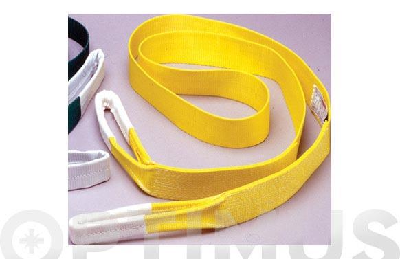 Eslinga plana monocuerpo 3 tn 90 mm/6m amarillo