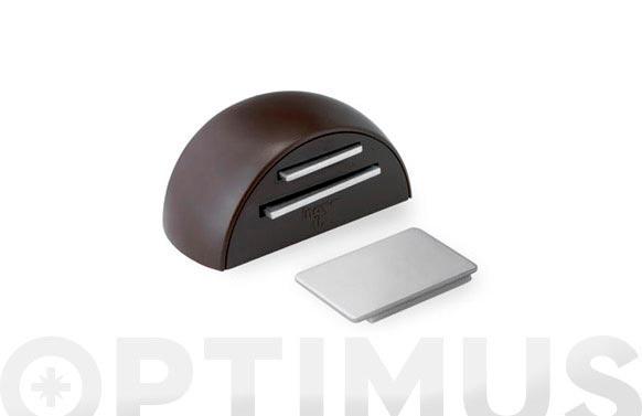 Retenedor adhesivo magnetico marron