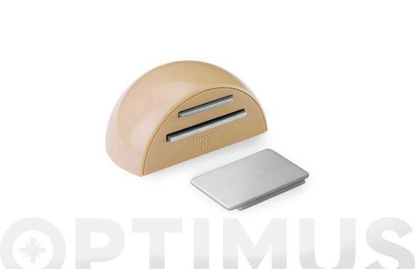 Retenedor adhesivo magnetico beige