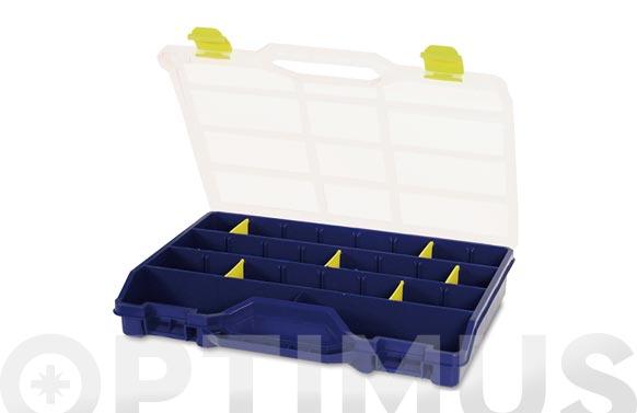 Clasificador maletin plastico n.46-26 azul 21 compartimientos 378 x 290 x 61 mm