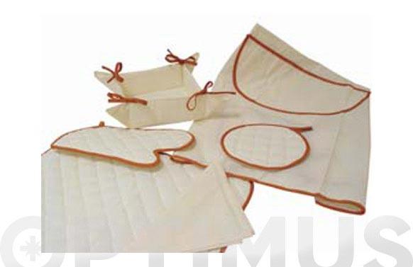 Delantal c/bolsillo b.art 350 marron