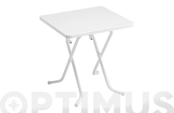 Mesa cuadrada plegable blanco 70 x 70 cm