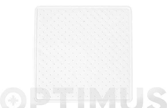 Alfombra ducha caucho natural 54 x 54 cm blanca