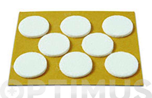 Deslizador de fieltro adhesivo blanco ø 25 mm 8 unid