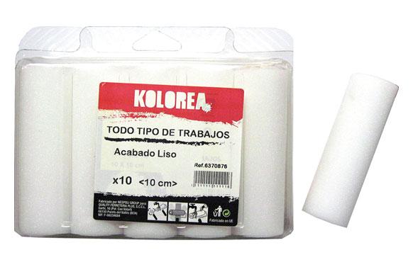 Mini rodillo recambio espuma 10 uds 10 cm