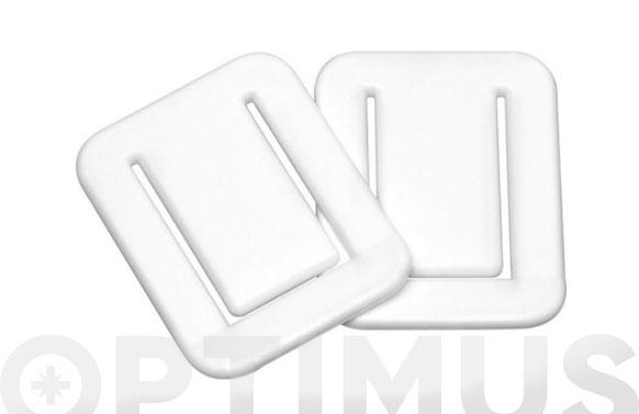 Pinza adhesiva p/cortina baño fix blanco 2 uds