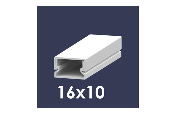 Canaleta 2 m blanca 16 x 10 mm