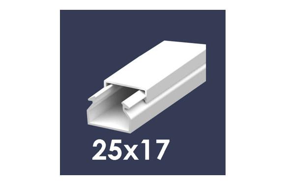 Canaleta 2 m blanca 25 x 17 mm