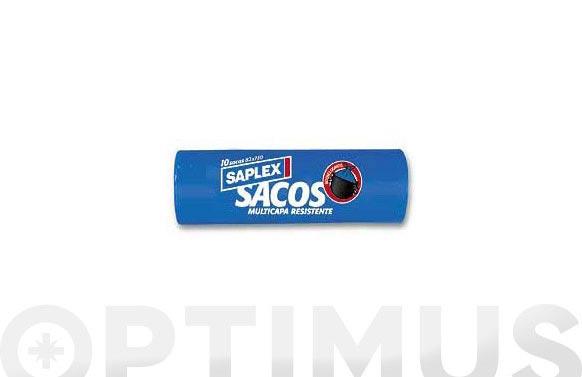 Saco basura 120 l (10 uds) 82x110 cm resistente