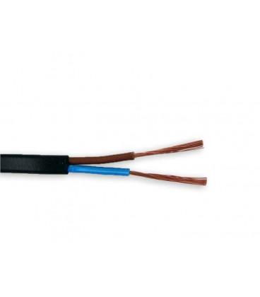 Bobina cable manguera plana 2x0,75 negra