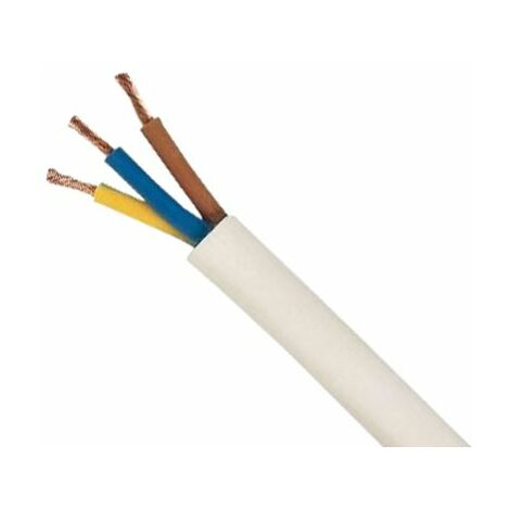 Bobina cable manguera redonda 3g1 blanca