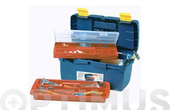 Caja herramientas polipropileno n 16 azul 500 x 250 x 250 mm 1 bandeja 1 estuche