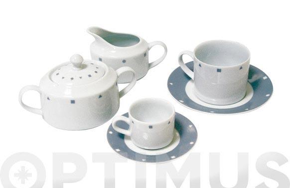 Azucarero porcelana decorado gris ii627