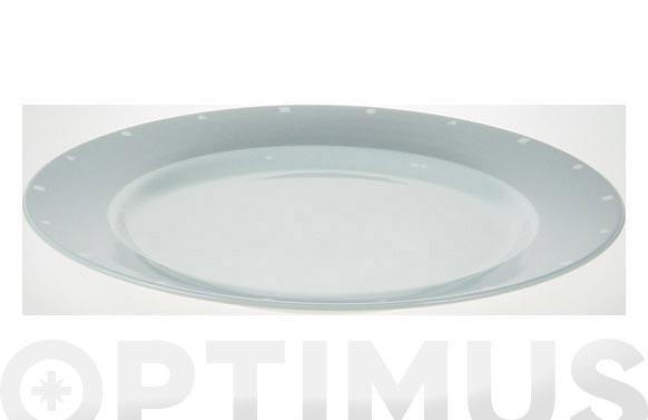 Fuente redonda porcelana decor gris 525