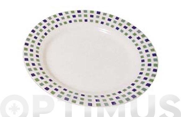 Plato postre porcelana decorado gaudi 511