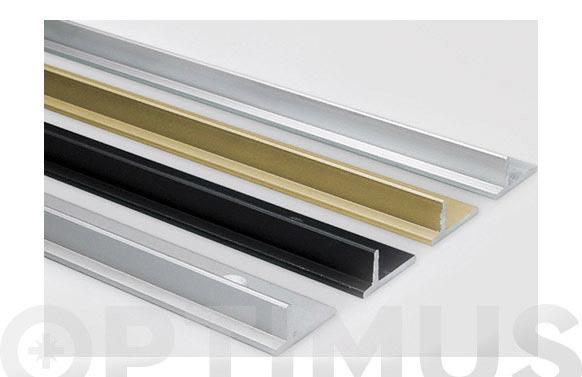 Perfil aluminio plata superior/inferior roll25/45 3 m