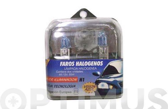 Lampara auto jgo 2 und trophy h1 luz azul
