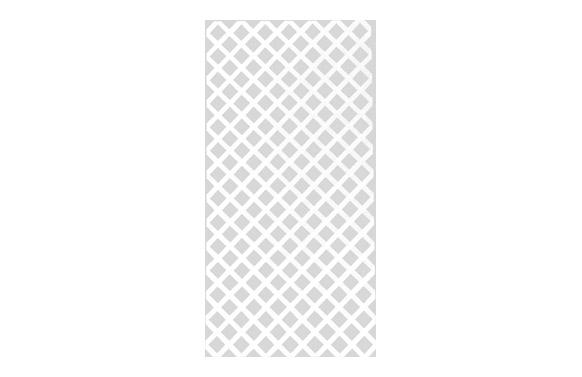 Panel decorativo privat 1 x 2 mt blanco