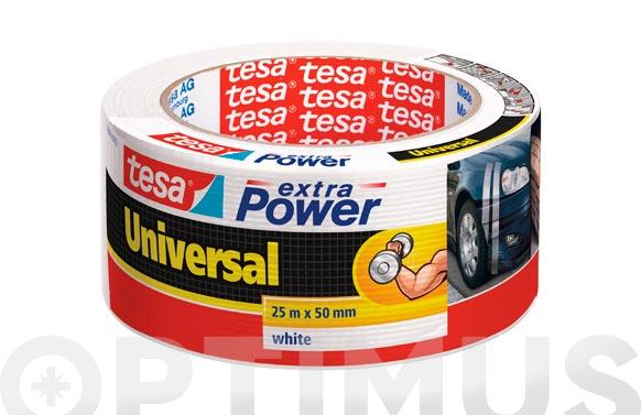 Cinta americana extra power blanco 25 m x 50 mm