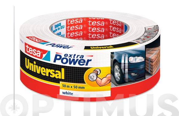 Cinta americana extra power blanco 50 m x 50 mm