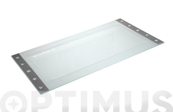 Bandeja cristal 19x36 gris