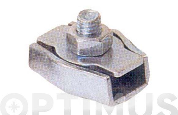 Sujetacable plano simple cincado 1 tornillo ø 3-20 mm