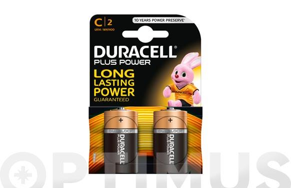 Pila alcalina plus power lr-14-c bl.2