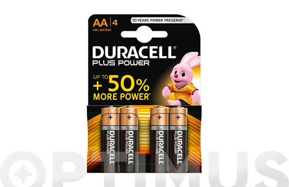 Pila alcalina plus power lr06-aa bl.4
