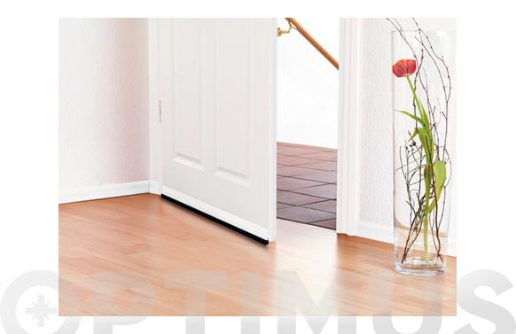 Burlete bajo puerta pvc con cepillo adhesivo 1 m x 37mm marron tesamoll