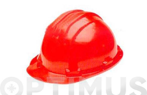 Casco obra homologado 5-rs rojo