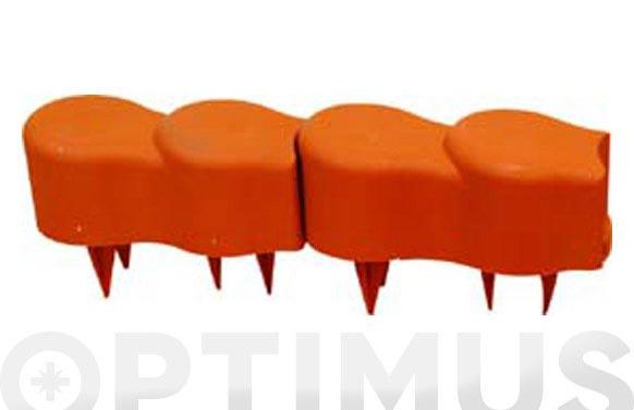 Bordura plastico terracota 12 piezas 20x8 cm