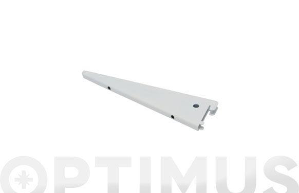 Cartela f-doble hierro 17 cm blanco
