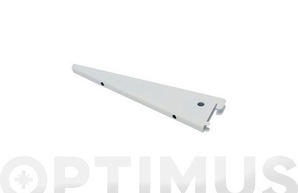 Cartela f-doble hierro 22 cm blanco