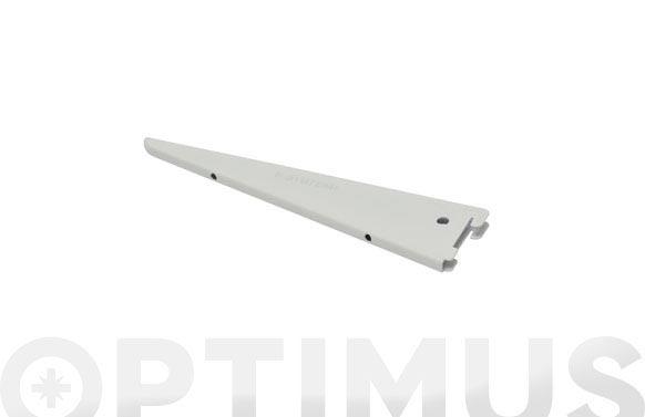 Cartela f-doble hierro 27 cm blanco