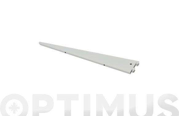 Cartela f-doble hierro 47 cm blanco