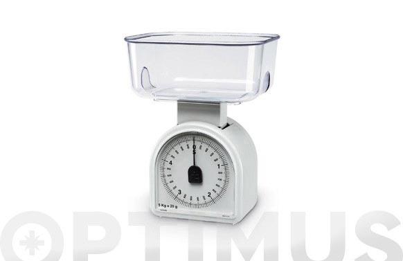 Balanza cocina omega 5kg-20g blanca
