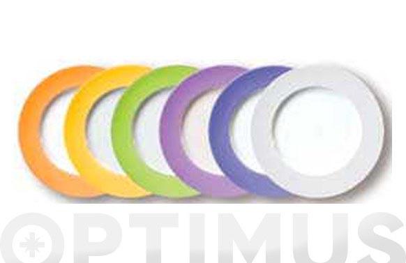 Plato porcelana 31 cm (set 6 unidades) mix 6 colores