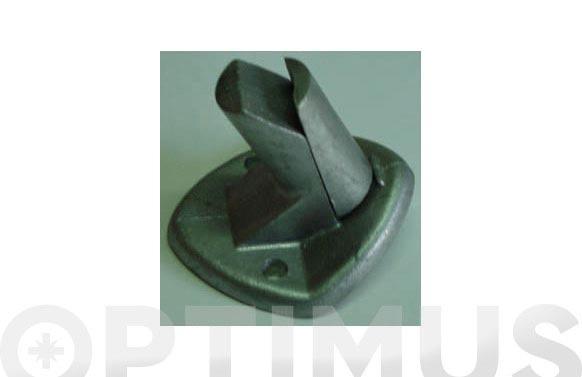 Placa anclaje galvanizado poste tornapunta