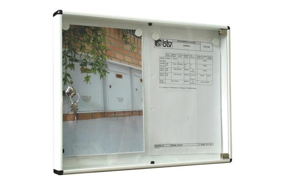 Panel de anuncios horizontal 2 folios blanco