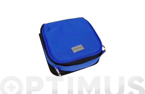 Estuche p/reproductor +12 cd c-2cd azul