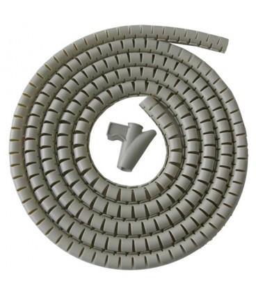 Recogedor de cables easy cover 2m-25mm gris