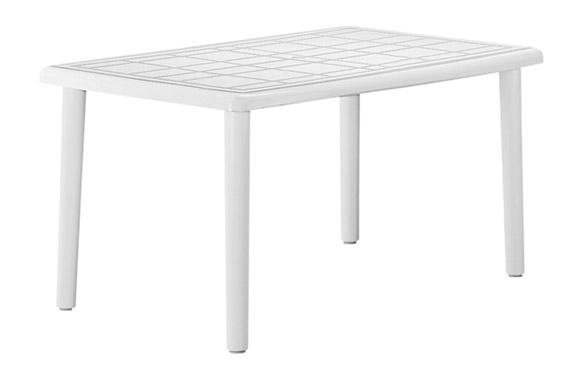 Mesa rectangular olot blanca 140 x 90 cm