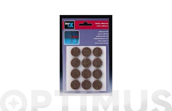 Fieltro adhesivo pata mueble marron ø 22 mm