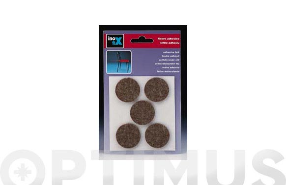 Fieltro adhesivo pata mueble marron ø 27 mm