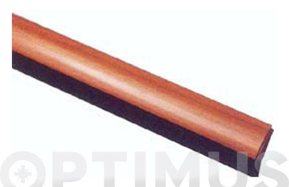 Burlete bajo puerta adhesivo pvc curvo 100 cm madera clara