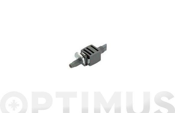 Conector recto micro drip premium 4,6 mm 3/16 10 piezas