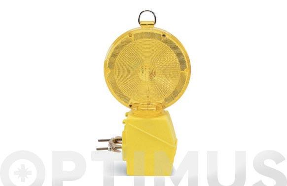 Baliza automatica amarilla con lente